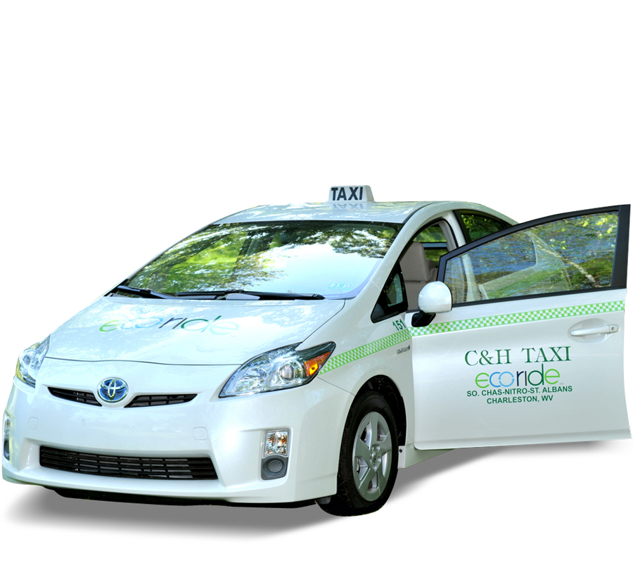 ECO Ride Taxi Cab with Open Door - C&H Taxi