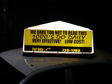 Taxi Top Advertising - C&H Taxi